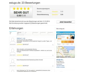 Kundenbewertungen von Estugo